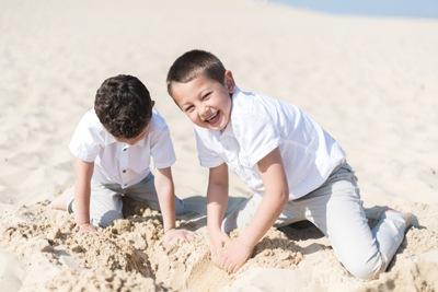 dune Pilat enfants qui jouent
