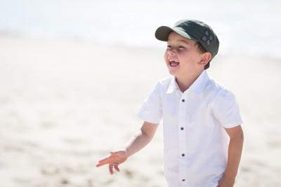 dune Pilat portrait enfant sourir