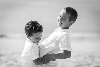 noir et blanc dune Pilat portraits enfants