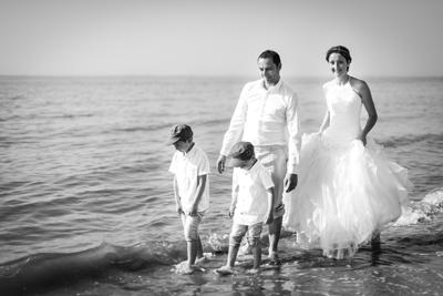 dune pilat portrait famille noir et blanc