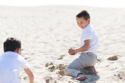 dune Pilat enfants qui jouent 2