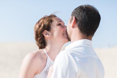 dune Pilat baiser de couple couleur