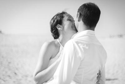 dune Pilat baiser couple noir et blanc